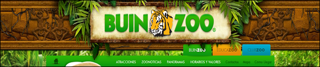Buin Zoo website headers inspired by plants